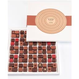 Coffret de 100 bonbons de chocolats assortis