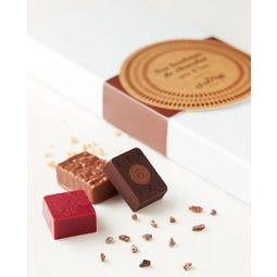 Coffret de 12 bonbons de chocolats assortis