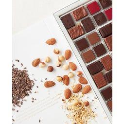 Coffret de 24 bonbons de chocolats assortis