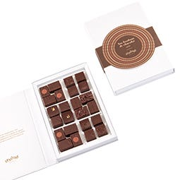 Coffret de 24 bonbons de chocolats noir