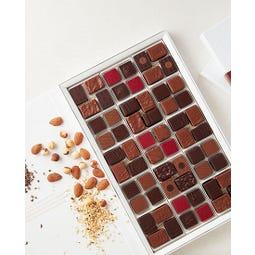 Coffret de bonbons de 60 chocolats assortis