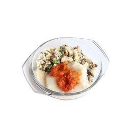 Filet de cabillaud, duo de riz, concassée de tomate Cocotte