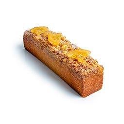 Finger Cake valencia et citron, crumble aux craquelins de nougatine