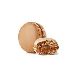 Macaron au caramel et sel de Guérande