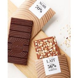 Tablette chocolat au lait et noisette 100 g