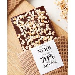 Tablette chocolat noir amande 100 g