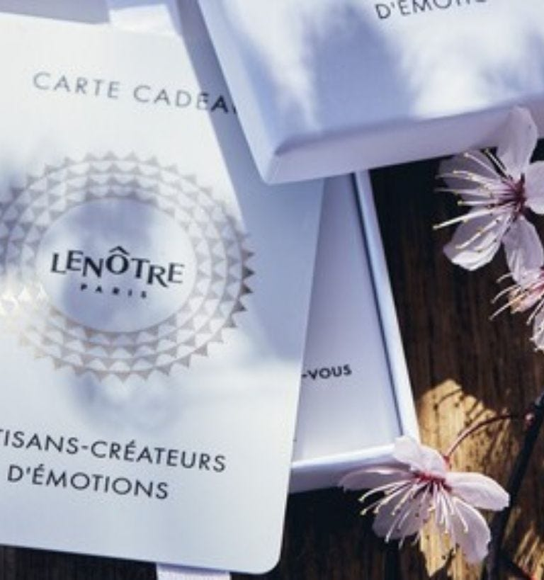 carte cadeau Lenôtre